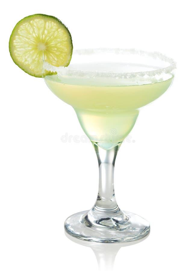 Klassisk margaritacoctail med limefrukt royaltyfri bild