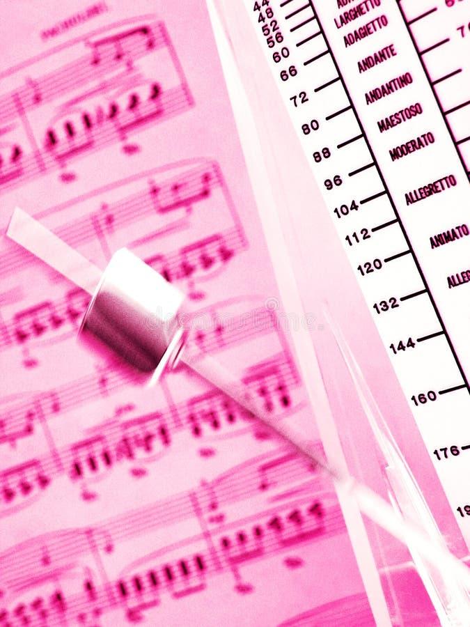 klassisk metronomemusik royaltyfria bilder