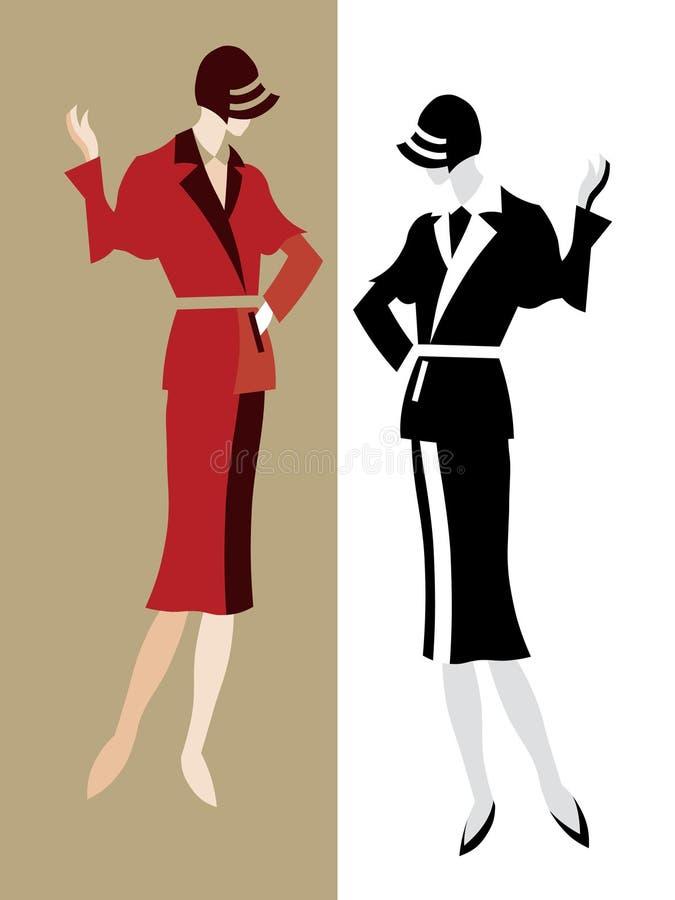 klassisk model retro stil vektor illustrationer