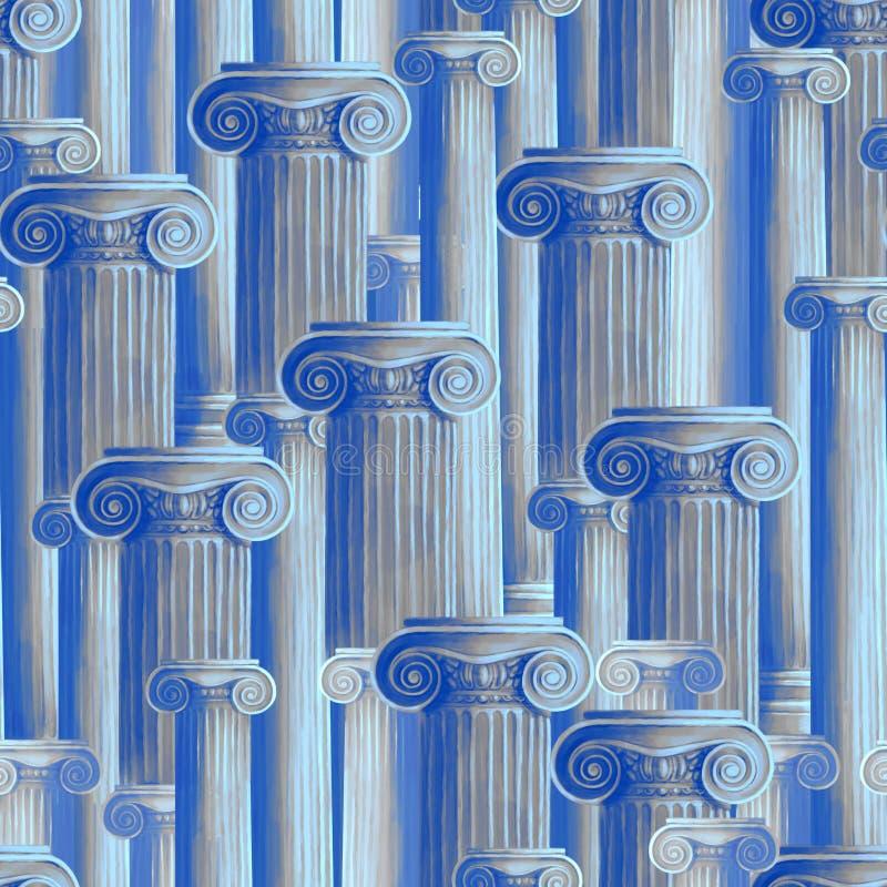Klassisk modell av forntida kolonner royaltyfri illustrationer