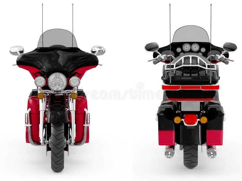 Klassisk motorcykel royaltyfri illustrationer