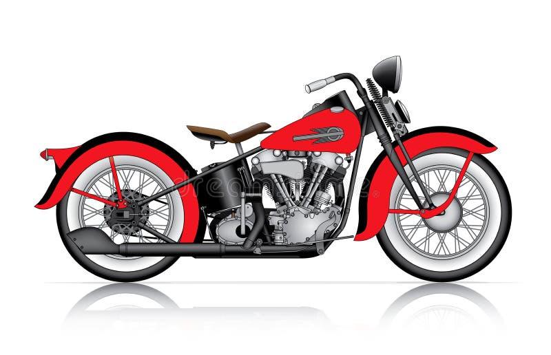 Klassisk motorcykel stock illustrationer