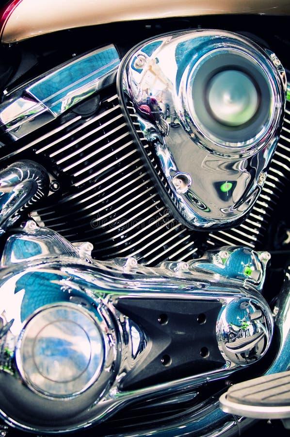 klassisk motormotorcykel för avbrytare arkivbild