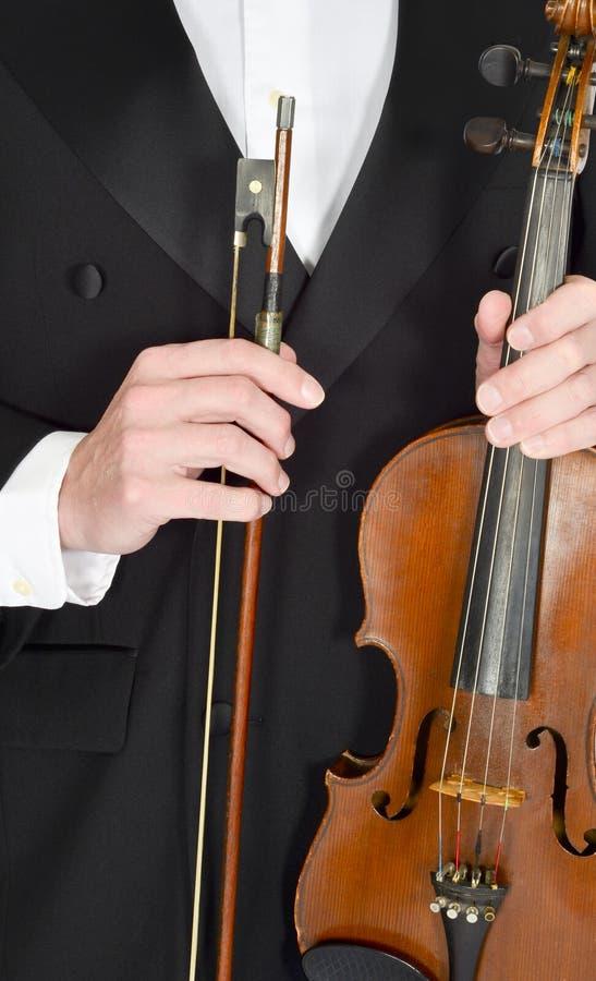 Klassisk musik fiol, violinist, begrepp för th royaltyfri foto