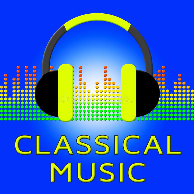 Klassisk musik visar den Symphonic illustrationen för filmmusik 3d royaltyfri illustrationer