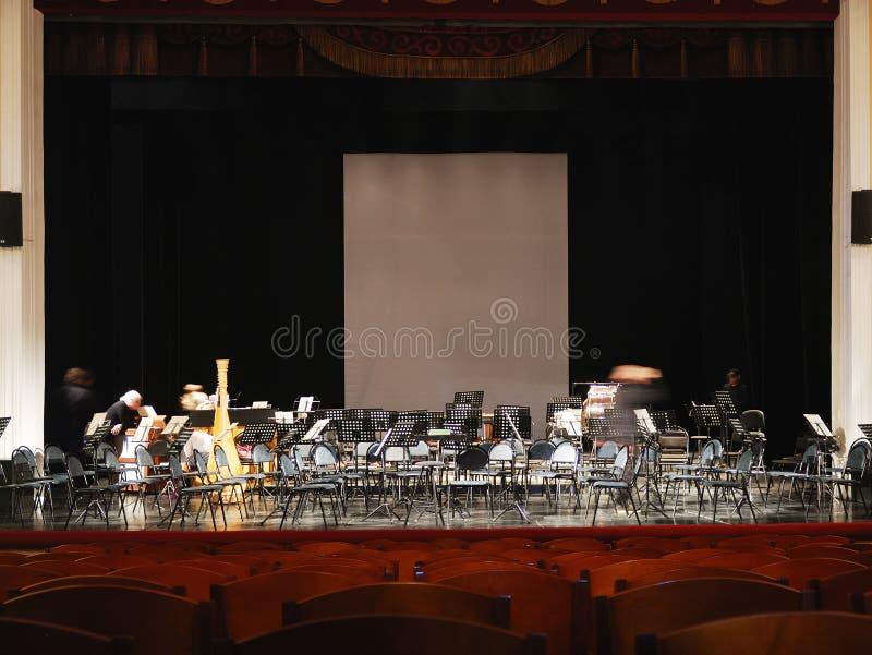 Klassisk musikkonserthall fotografering för bildbyråer