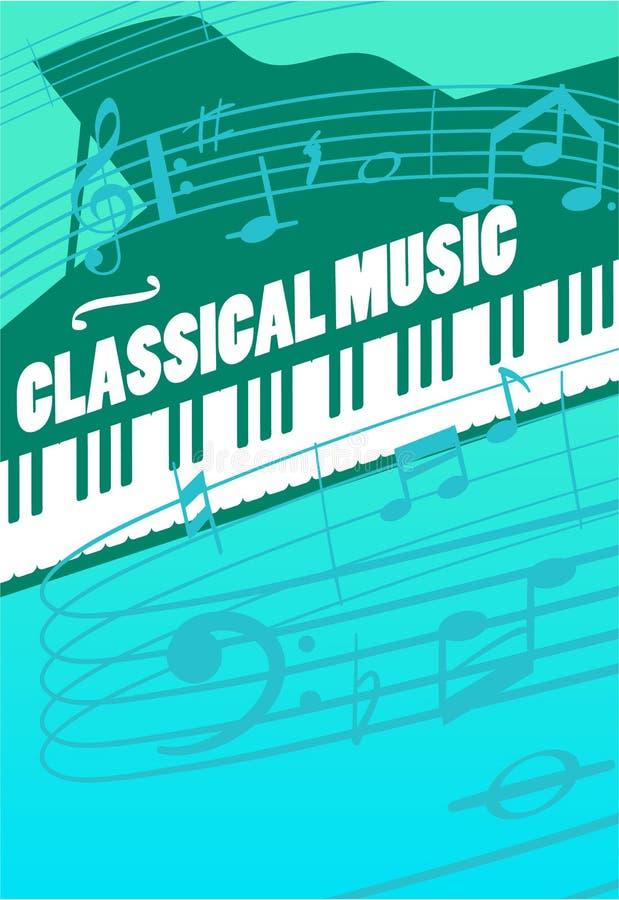 Klassisk musikvektorbegrepp vektor illustrationer