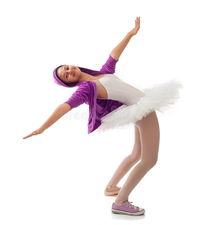Klassisk och modern begrepp för ballerina, av balett arkivbilder