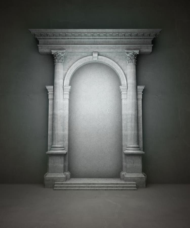 klassisk portal vektor illustrationer