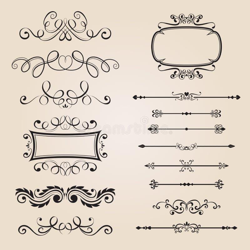 klassisk prydnad för kant royaltyfri illustrationer