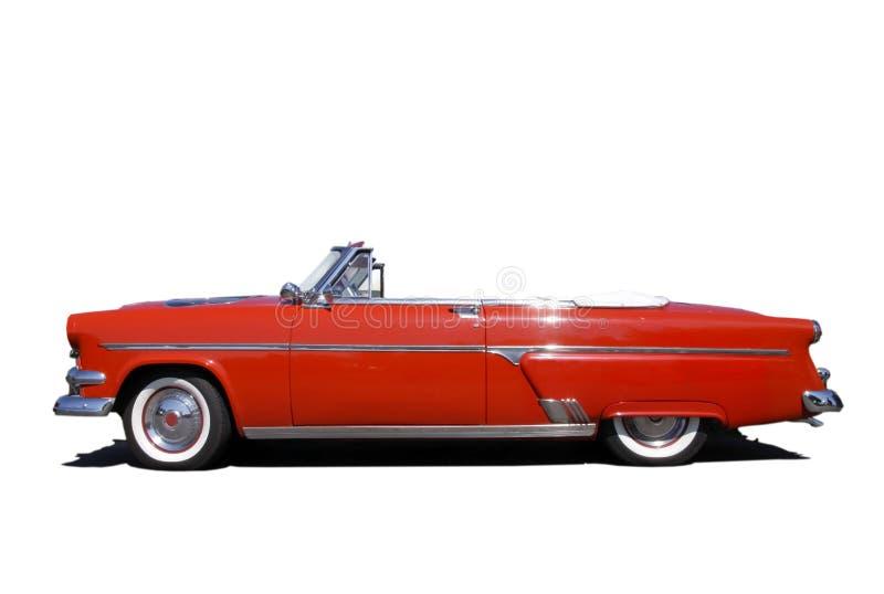klassisk red för bil royaltyfri fotografi
