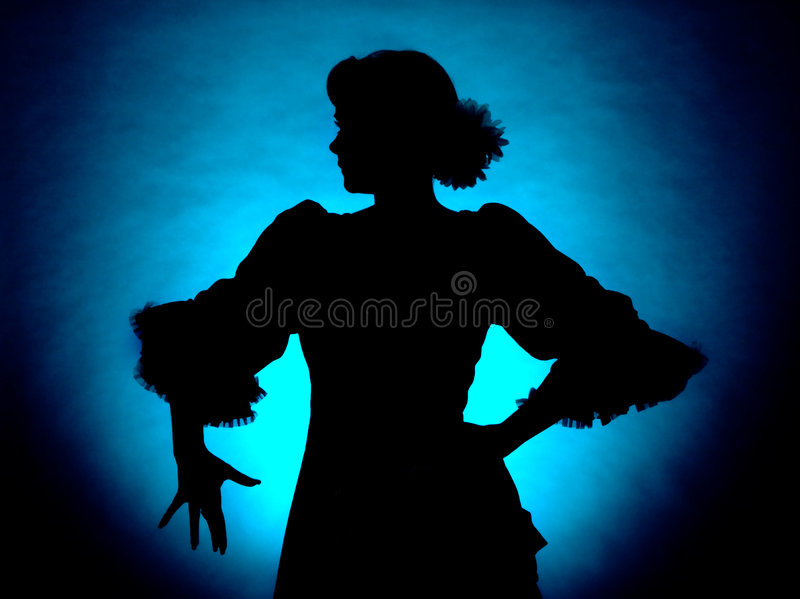 klassisk silhouette royaltyfri foto