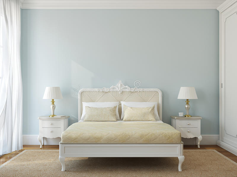 Klassisk sovruminre. royaltyfri illustrationer