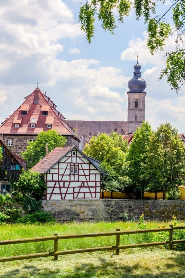 Klassisk stad av Forchheim arkivfoto