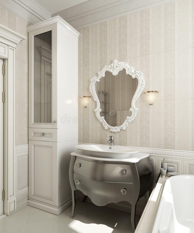 Klassisk stil för badrum vektor illustrationer