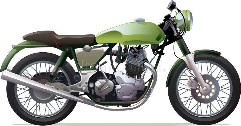 Klassisk tävlings- motorcykel stock illustrationer