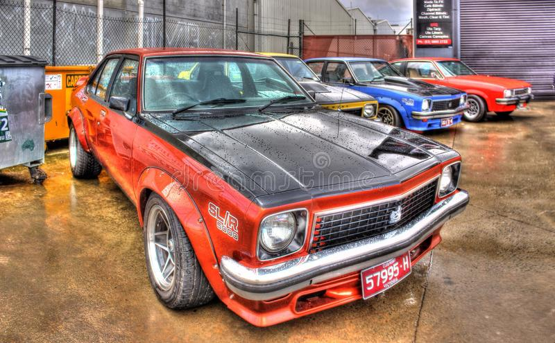 Klassisk 70-talaustralier Holden Torana SLR 5000 royaltyfria bilder