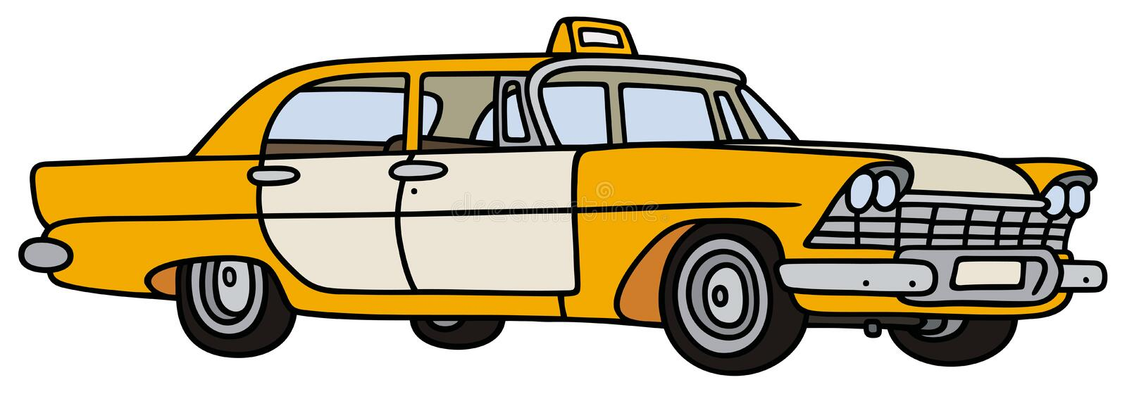 Klassisk taxi royaltyfri illustrationer