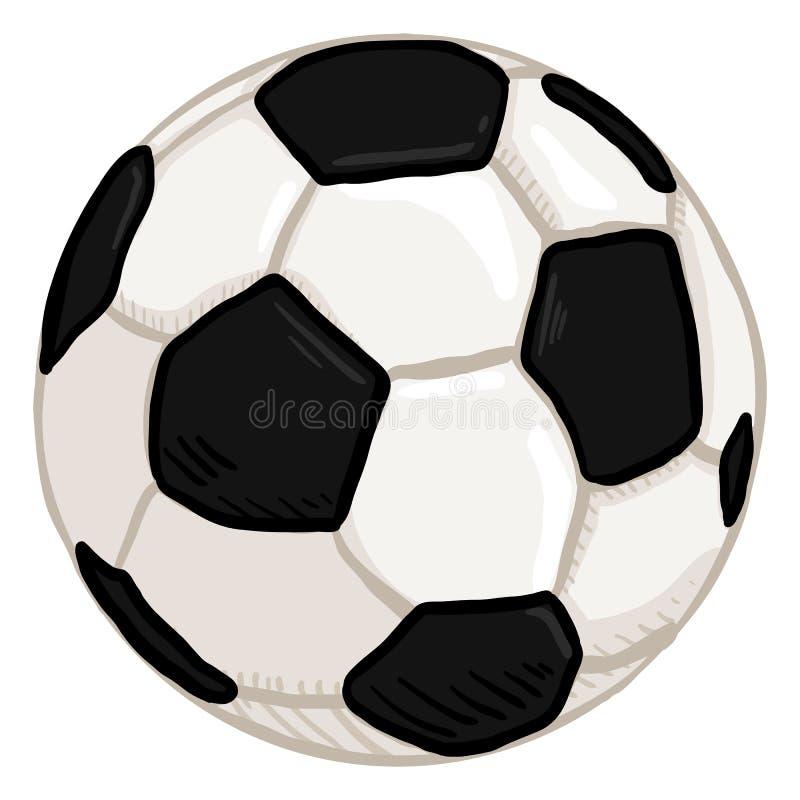 Klassisk tecknad filmboll för vektor för fotboll europeisk fotboll royaltyfri illustrationer