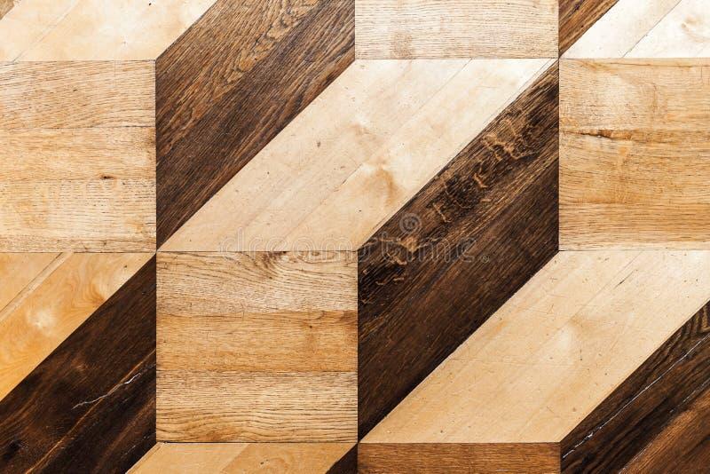 Klassisk träparkettdesign, tappning royaltyfri foto