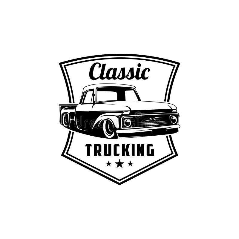 Klassisk transport och klassisk vektor för bilservicelogo stock illustrationer