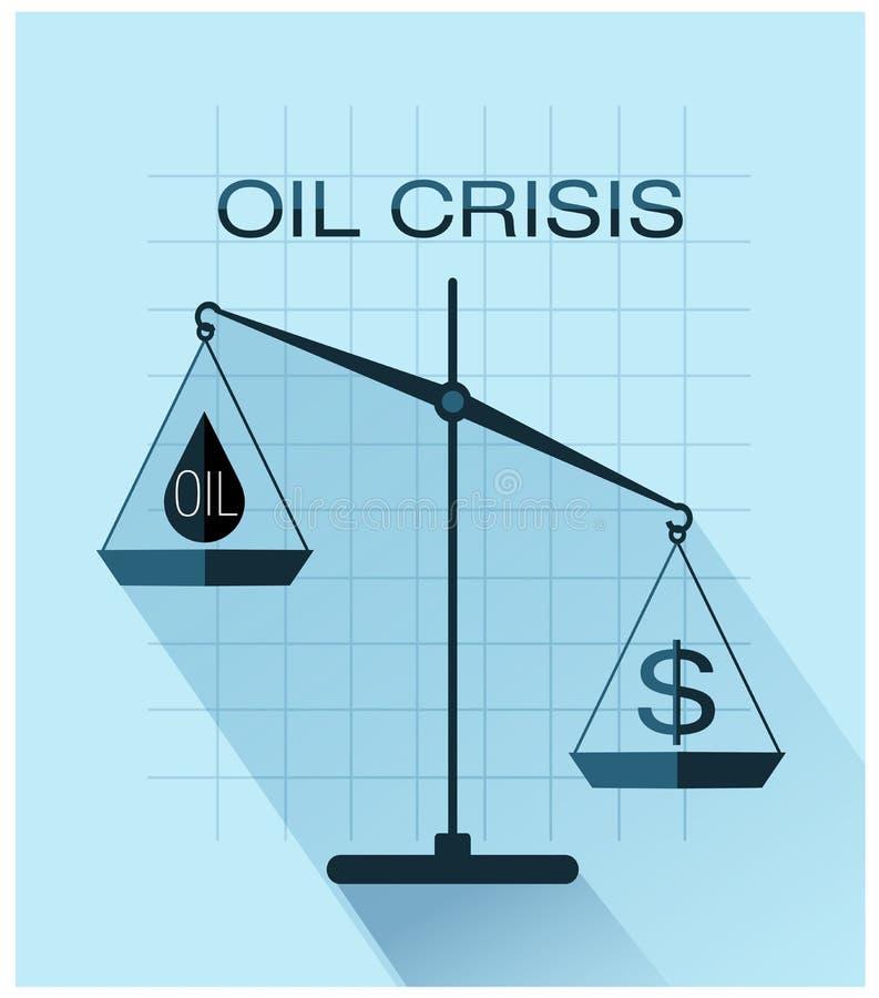 Klassisk våg av rättvisa med droppe av olja- och dollartecknet royaltyfri illustrationer