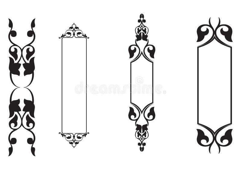 klassisk vektor för baner 4set stock illustrationer