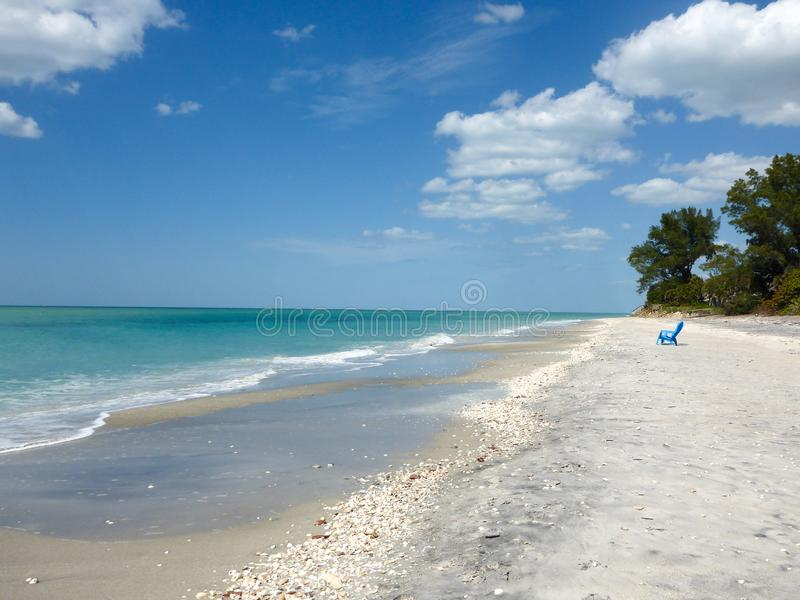 Klassisk vit sandstrand i Florida, USA arkivfoto