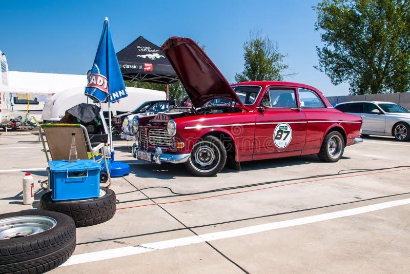 Klassisk Volvo tävlings- bil royaltyfria bilder