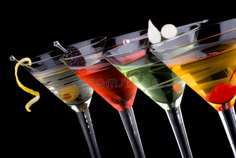 klassiska coctailar martini mest populär serie royaltyfri foto