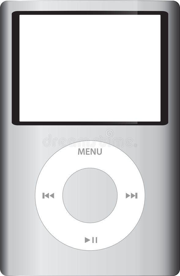 klassiska iPod vektor illustrationer