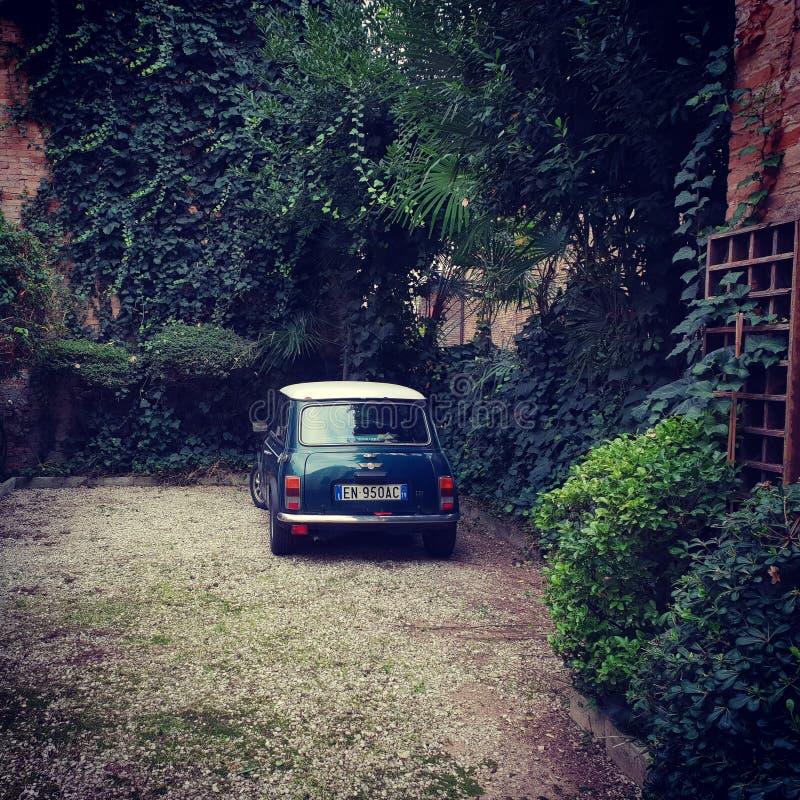 Klassiska Mini Cooper i Treviso Italien royaltyfria foton