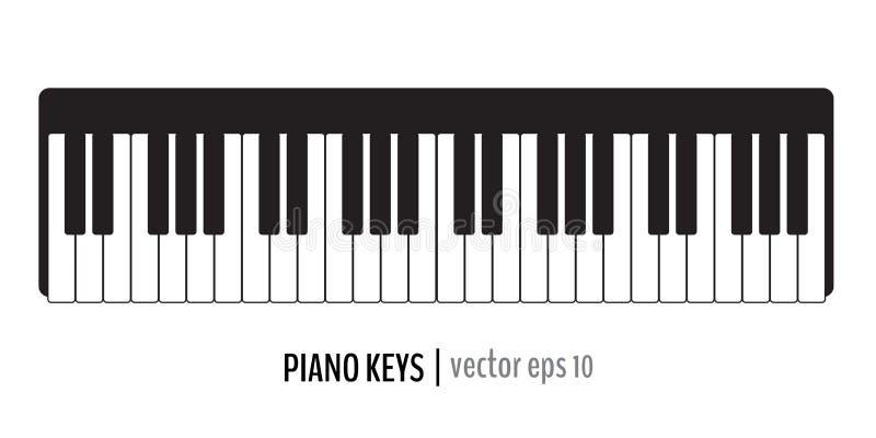 Klassiska pianotangenter royaltyfri illustrationer