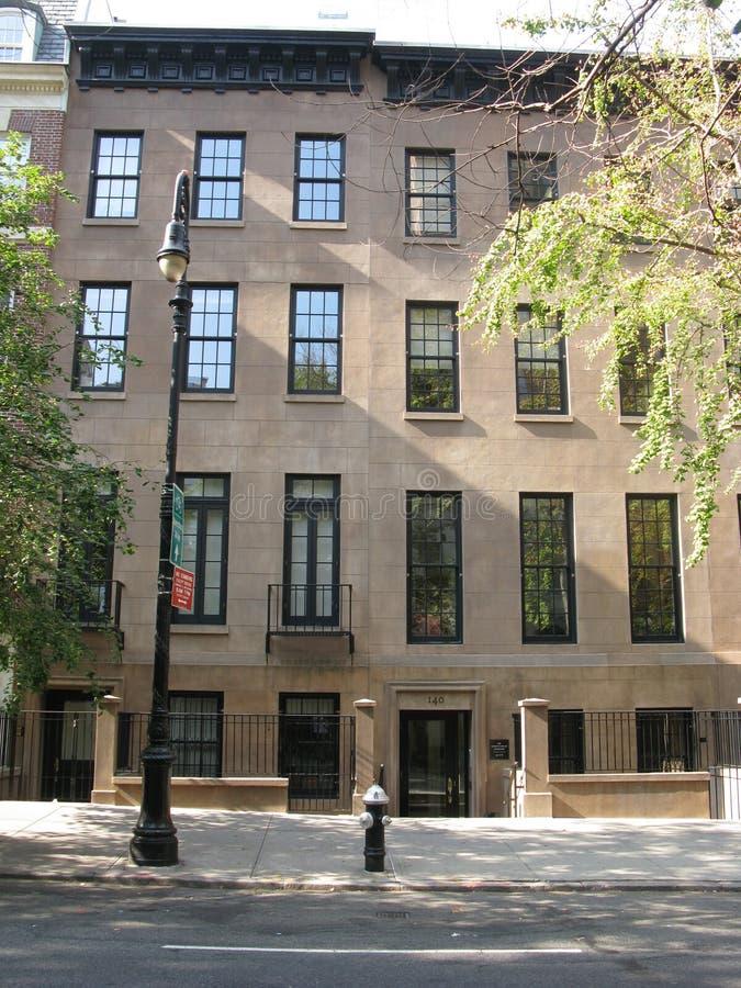 Klassiska radhus på den övreöstliga sidan av nytt Y arkivfoto