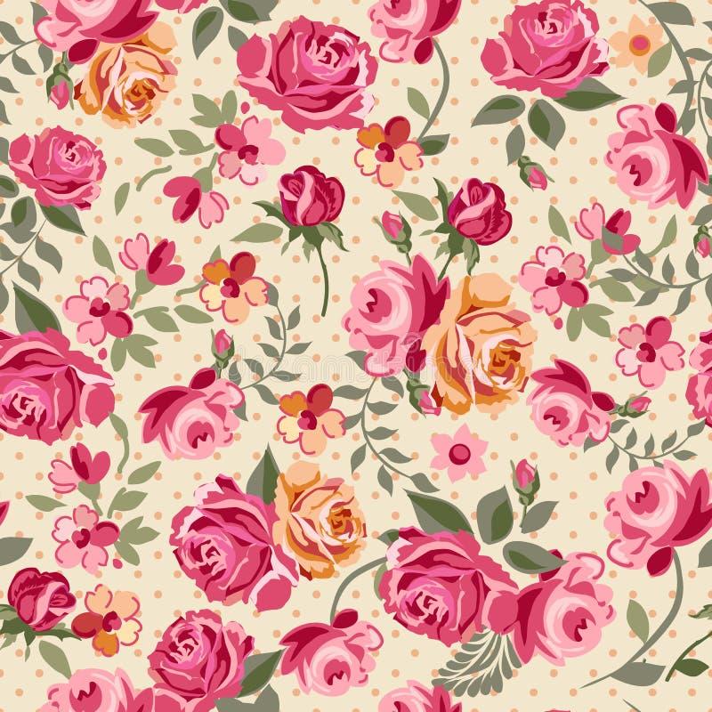 Klassiska rosor royaltyfri illustrationer