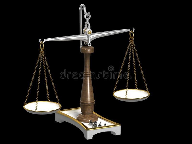 klassiska scales royaltyfri illustrationer