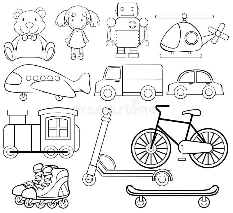 klassiska toys vektor illustrationer