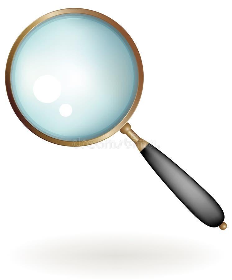 klassiskt exponeringsglas som förstorar vektor illustrationer