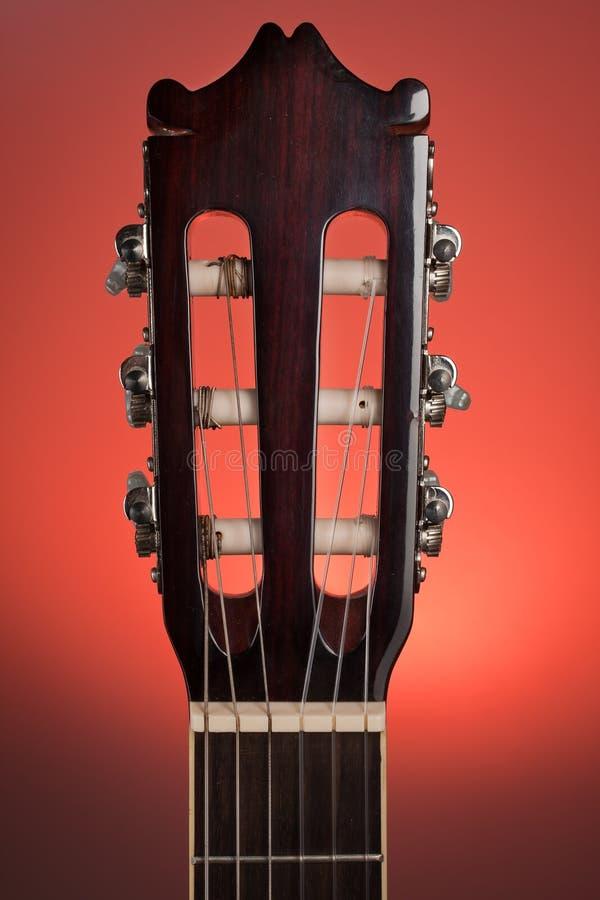 klassiskt gitarrhuvudmateriel arkivbilder