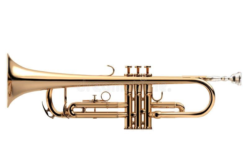 Klassiskt instrument för trumpet vektor illustrationer