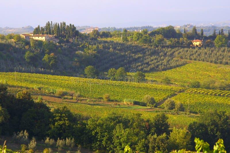 klassiskt lantbrukarhem tuscan arkivbild