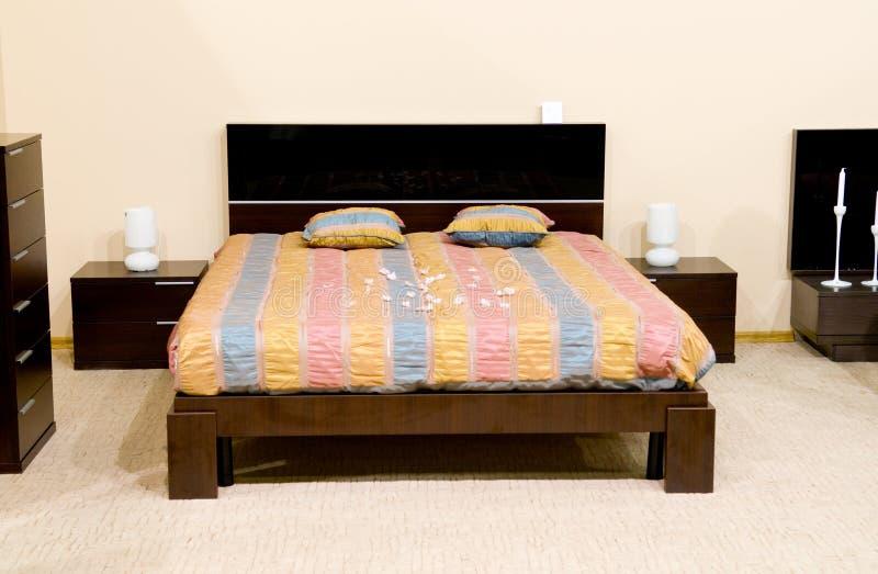 klassiskt modernt för sovrum arkivbild