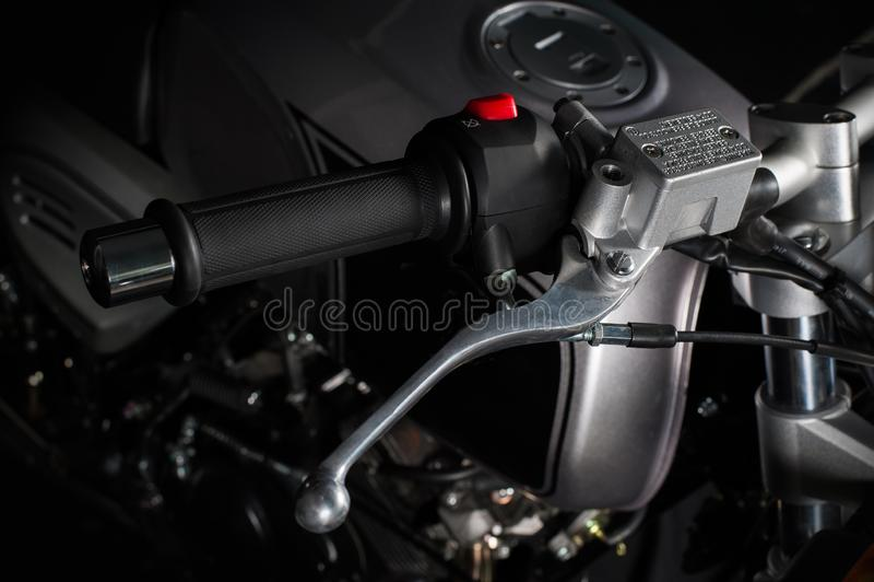 Klassiskt motorcykelhandtag royaltyfri fotografi