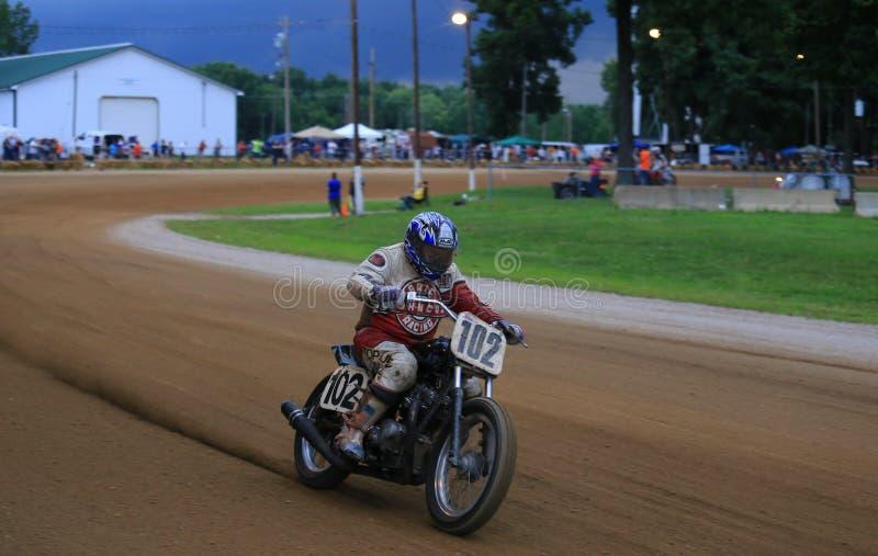 Klassiskt motorcykellopp royaltyfria foton