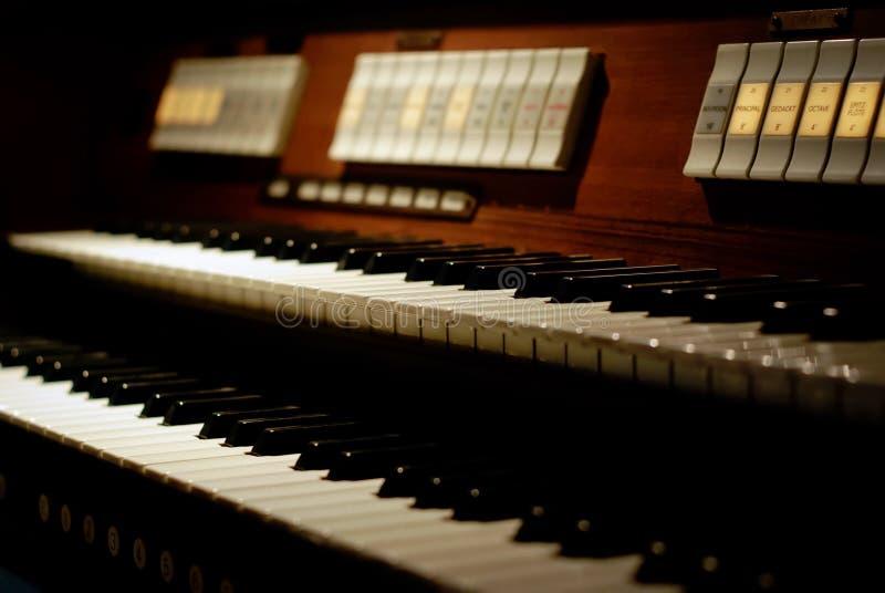 klassiskt tangentbordorgan royaltyfri bild