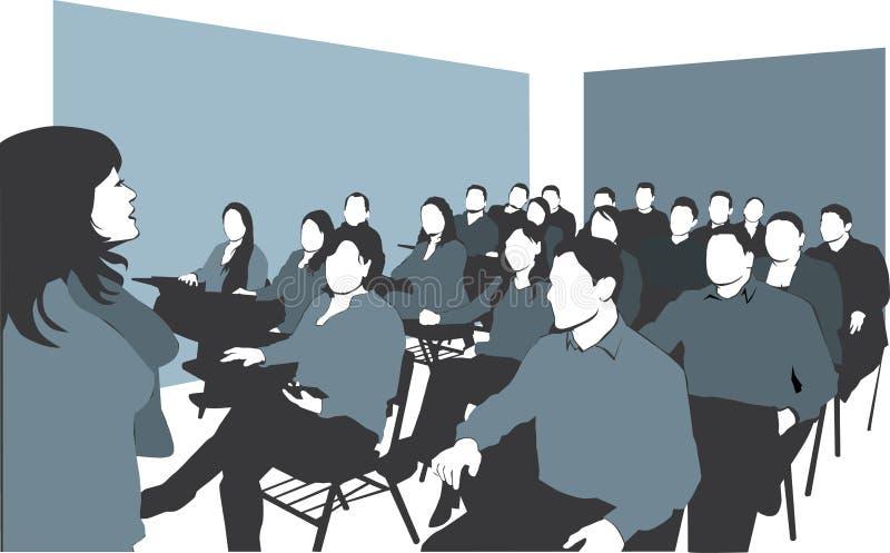 klassrum vektor illustrationer