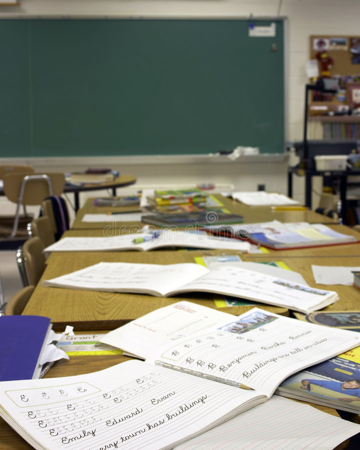 klassrum royaltyfria bilder