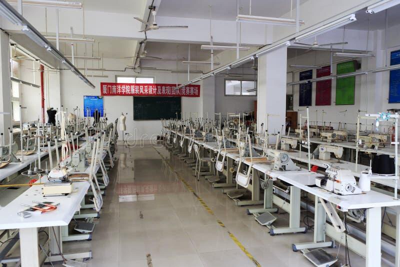 Klassrum för design för dräkt för Nanyang universitet fotografering för bildbyråer