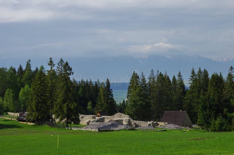 Klastorisko. Monastery of Carthusian Order ruins in Slovak Paradise National Park. In Slovakia stock images