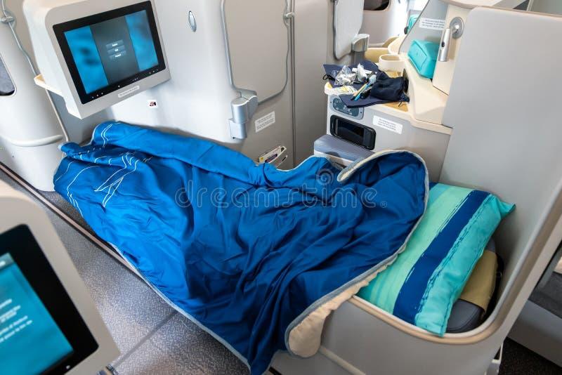 Klasy business Aerobus A3330neo samolot pasażerski Air Mauritius zdjęcie stock